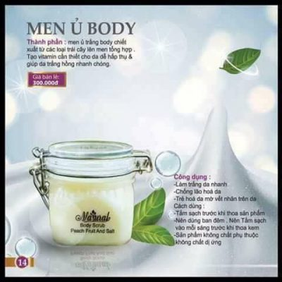 Men ủ trắng body Natural Spa hỗ trợ trắng da tốt nhất trên thị trường.