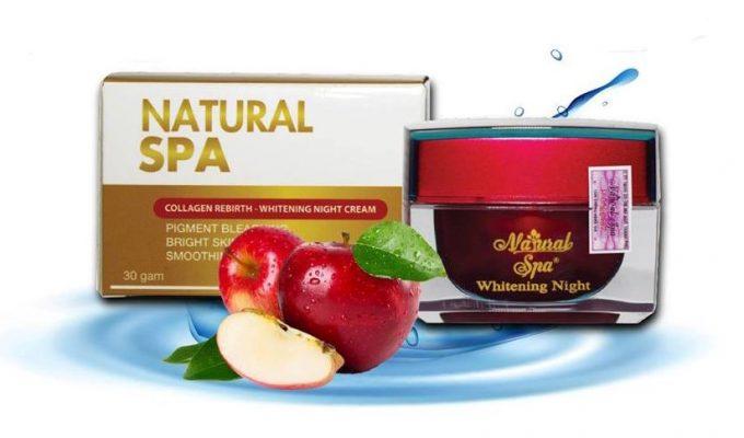 Kem trị nám natural spa được sản xuất từ các nguyên liệu tự nhiên.