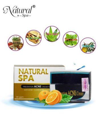Kem natural spa có thành phần chiết xuất hoàn toàn tự nhiên.
