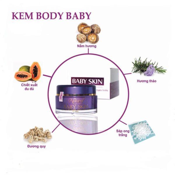 Kem body Natural Spa được chiết xuất từ thiên nhiên.