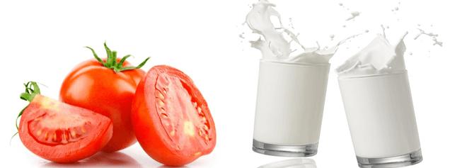 Tắm trắng toàn thân với cà chua và sữa tươi