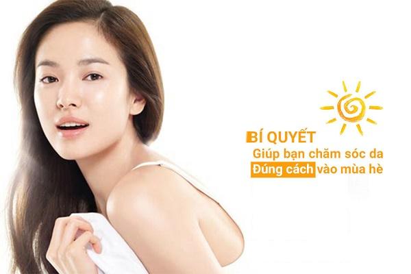 Cách giúp gương mặt sạch mụn trong ngày nóng bức.