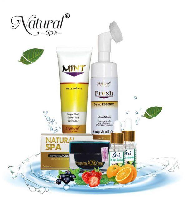 Bộ sản phẩm trị mụn Natural Spa