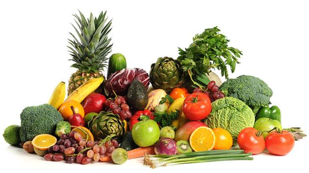 Các loại rau củ quả có sắc tươi