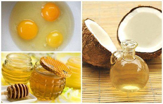 Cách làm mặt nạ dầu dừa mật ong trứng gà